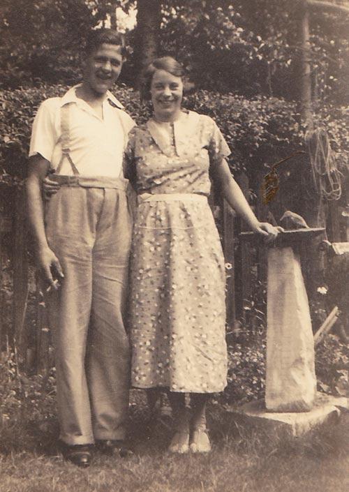 Freda Strawbridge with her boyfriend.