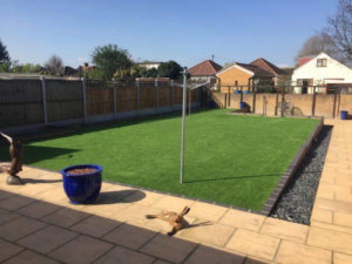 Fake grass lawn in Essex