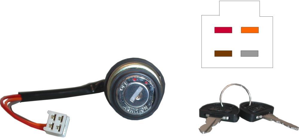 Ignition Switch Suzuki Early Gs Gt 4 Wires Es