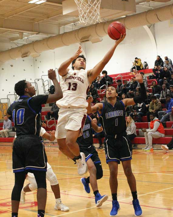 Bloomfield HS boys' basketball team falls to Barringer, 52-51