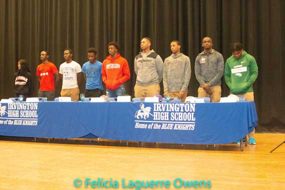Nine Irvington HS athletes honored during school's annual National Signing Day Ceremony