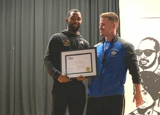 Irvington HS boys basketball coach Elias Brantley receives LifeChanger Award for selfless acts