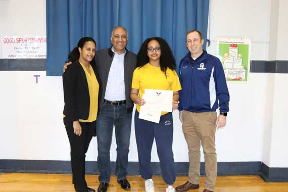 West Orange girl honored for exemplary volunteer service
