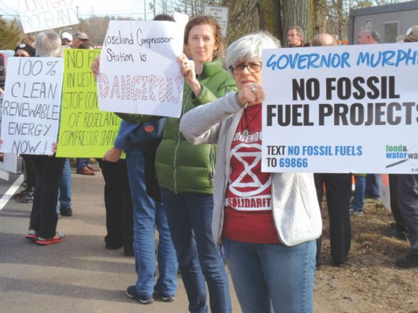 Residents protest gas compressor