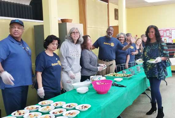 Rotary sponsors soup kitchen luncheon