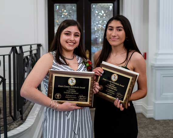 Columbia HS seniors presented with Essex County Scholastic Award