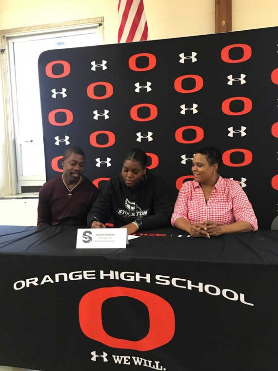 Orange HS track and field standout Shahyan Abraham signs with Stockton University