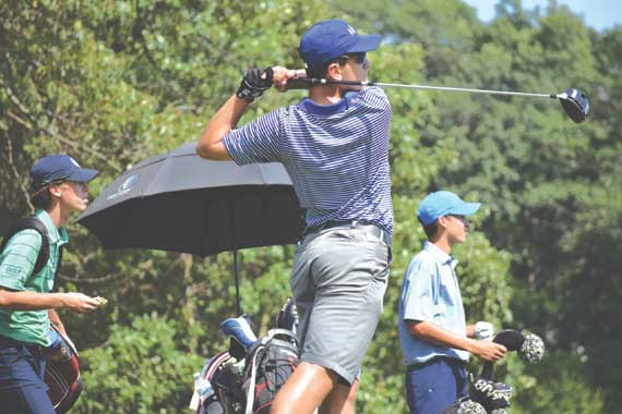 West Orange HS senior Tyler Galantini swings to success on the links