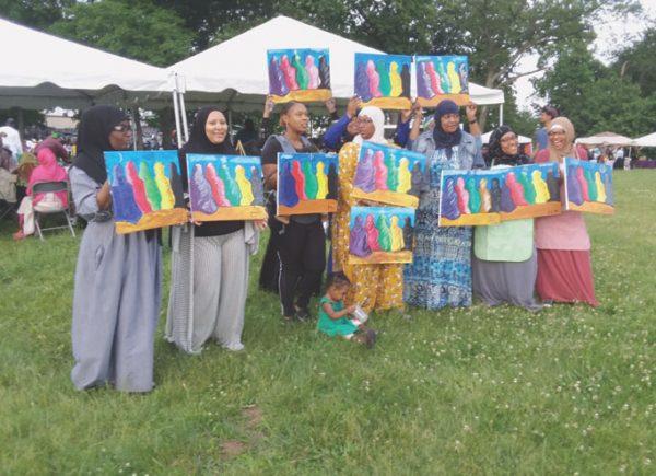 Muslims celebrate the end of Ramadan locally