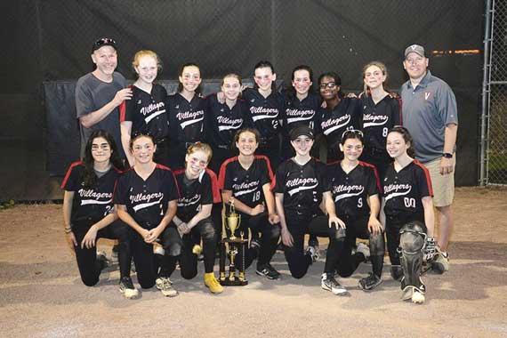 Maplewood-South Orange Villagers 14U softball team crowned Essex County Suburban league champions