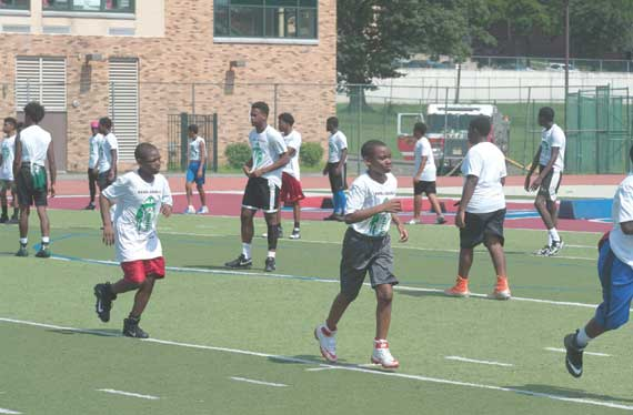 Rasul Douglas gives back to EO with football camp
