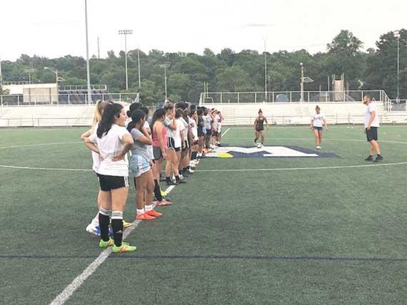 WOHS girls soccer team puts in summer work