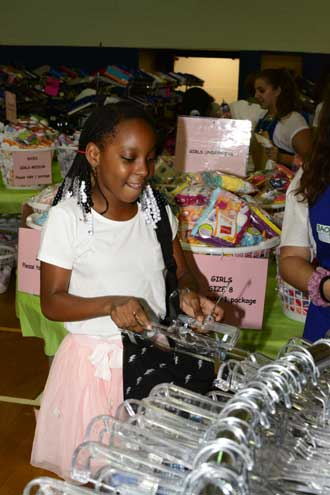 More than 800 children shop cost-free at Back 2 School Store