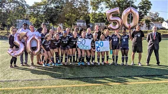 West Orange HS girls soccer star Natalie Nevins hits 50-50