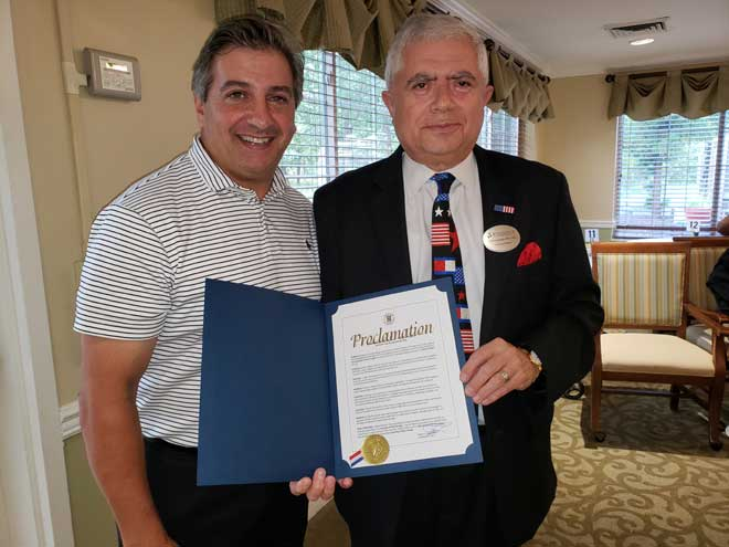 Parisi presents proclamation for Assisted Living Week