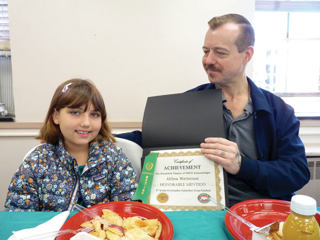 Columbus Day had awards and pancakes 'awards and pancakes'