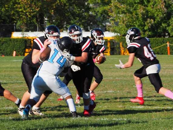 Glen Ridge HS football team defeats Newark Collegiate Academy