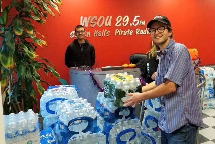 WSOU collects water to assist newark residents