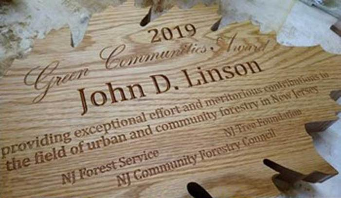 Linson honored by DEP's Urban and Community Forestry Program