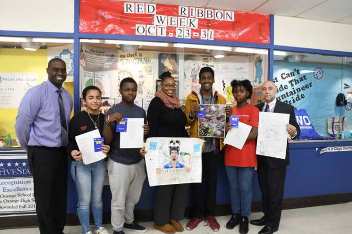 WOHS students create art promoting a drug-free America