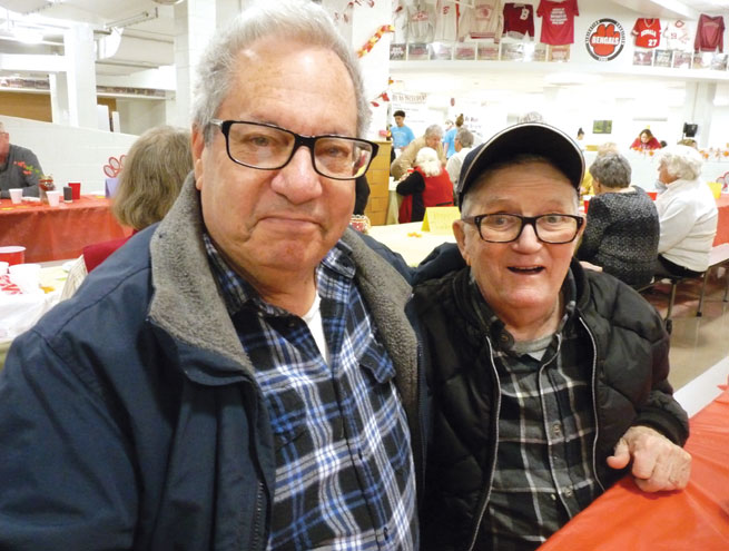 Young and old enjoy senior luncheon