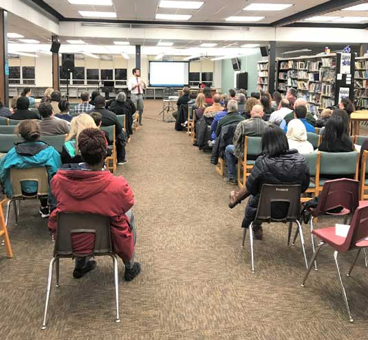 STEM Night for eighth-grade families in SOMA