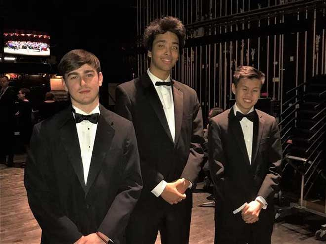 Three WOHS musicians perform with N.J. All-State Band