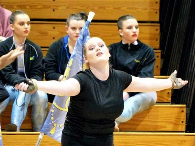 WO color guard invitational features Adaptive Color Guard performance
