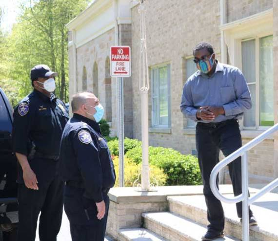 Orange School District contributes PPE to sheriff's department