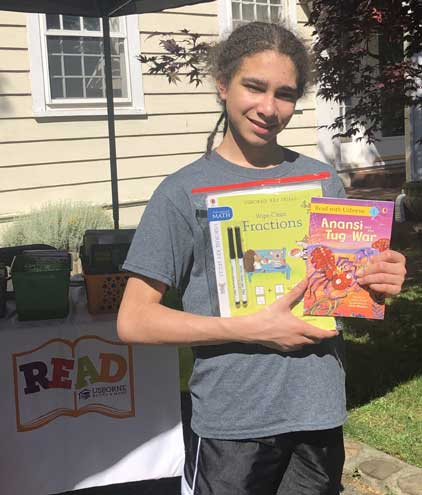 SOMA middle schooler hosts book drive