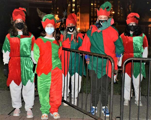 West Orange JAFROTC brings holiday cheer to town event with Santa