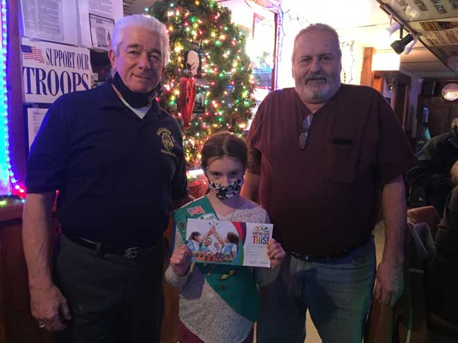Belleville American Legion members buy Girl Scout cookies for overseas service persons