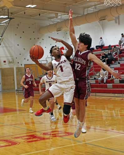 Bloomfield boys hoops defeats Verona by nearly double the points