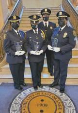 Lt. Marilyn Berrouet, Sgt. Keanna Thorne, Chief Phyllis Bindi and Sgt. Lakia Asiedu
