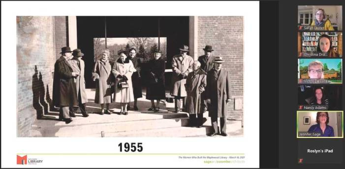 HNA honors the Maplewood Library and the women who built it