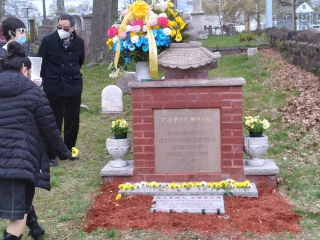 Belleville Historical Society holds commemoration at Chinese monument
