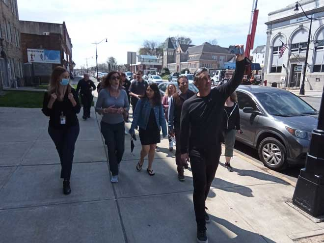 Sun, fun and exercise: Belleville employees take part in National Walking Day