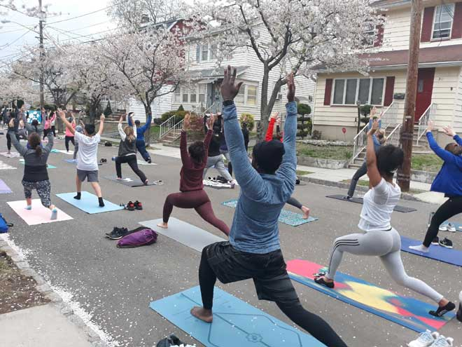 Yoga, cherry blossoms and community come to life in Belleville