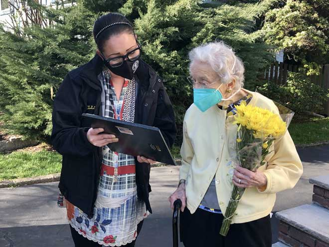 South Orange honors longtime resident with flowers, proclamation
