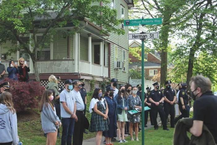 Glen Ridge remembers Officer Roberts with street renaming