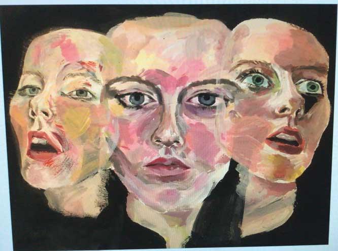 Columbia High School students explore mental health through their artwork
