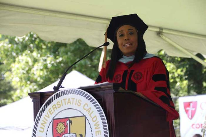 WOHS assistant vice principal gives commencement speech at Caldwell U.