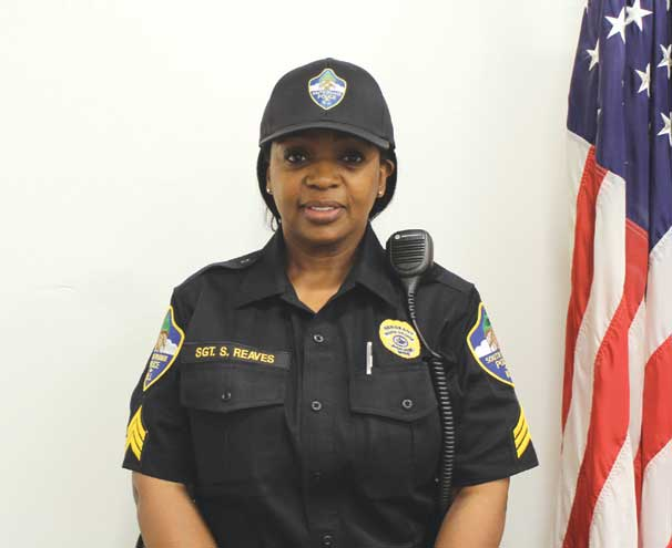 Reaves is the first woman to be promoted to sergeant in the South Orange PD