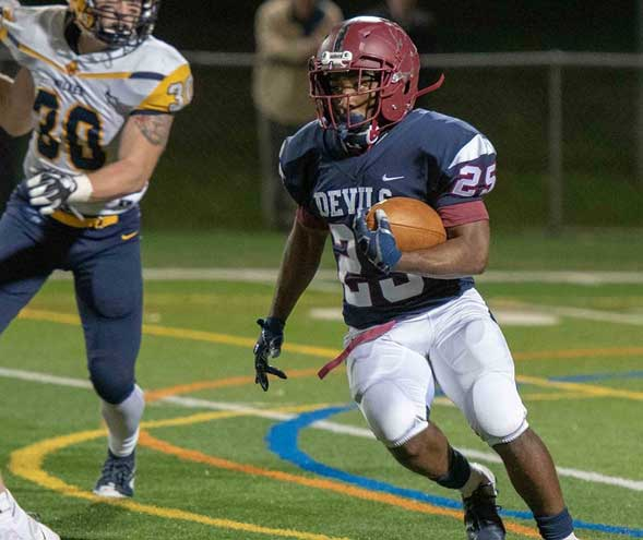 Football player from Irvington recognized for his efforts off the field