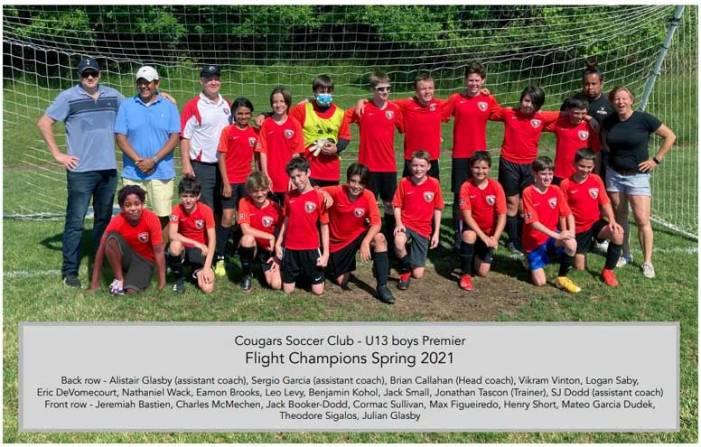 Cougar Soccer BU13 Premier team captures flight title