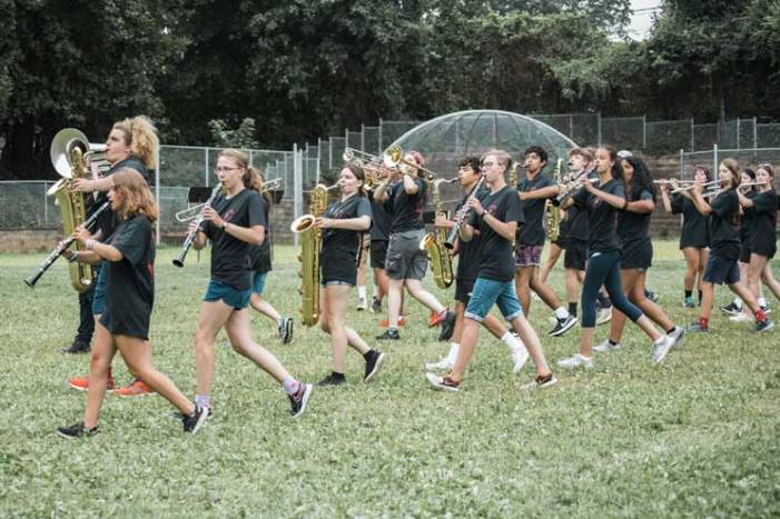 Glen Ridge HS marching band puts on swell showcase for parents