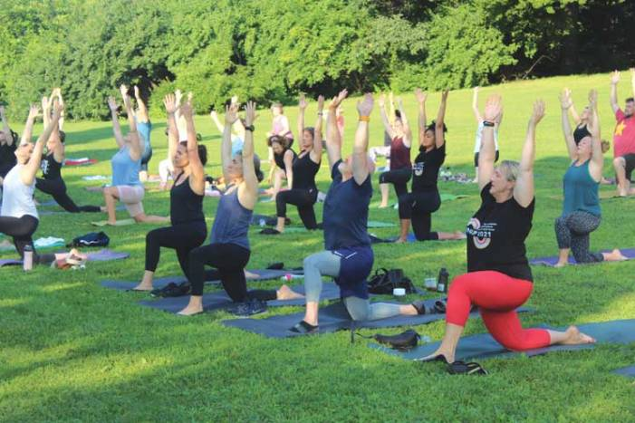 East Orange's Isaiah House holds early-morning yoga fundraiser in Maplewood Memorial Park