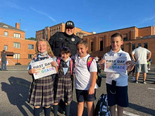 Bloomfield emergency responders welcome students back to school