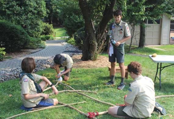Glen Ridge's Troop 55 welcomes potential Scouts at mock campsite