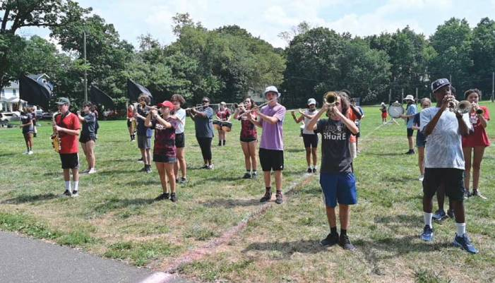 Columbia High School marching band is back in red and black
